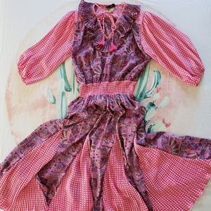 80's Diane Freis Georgette Dress
